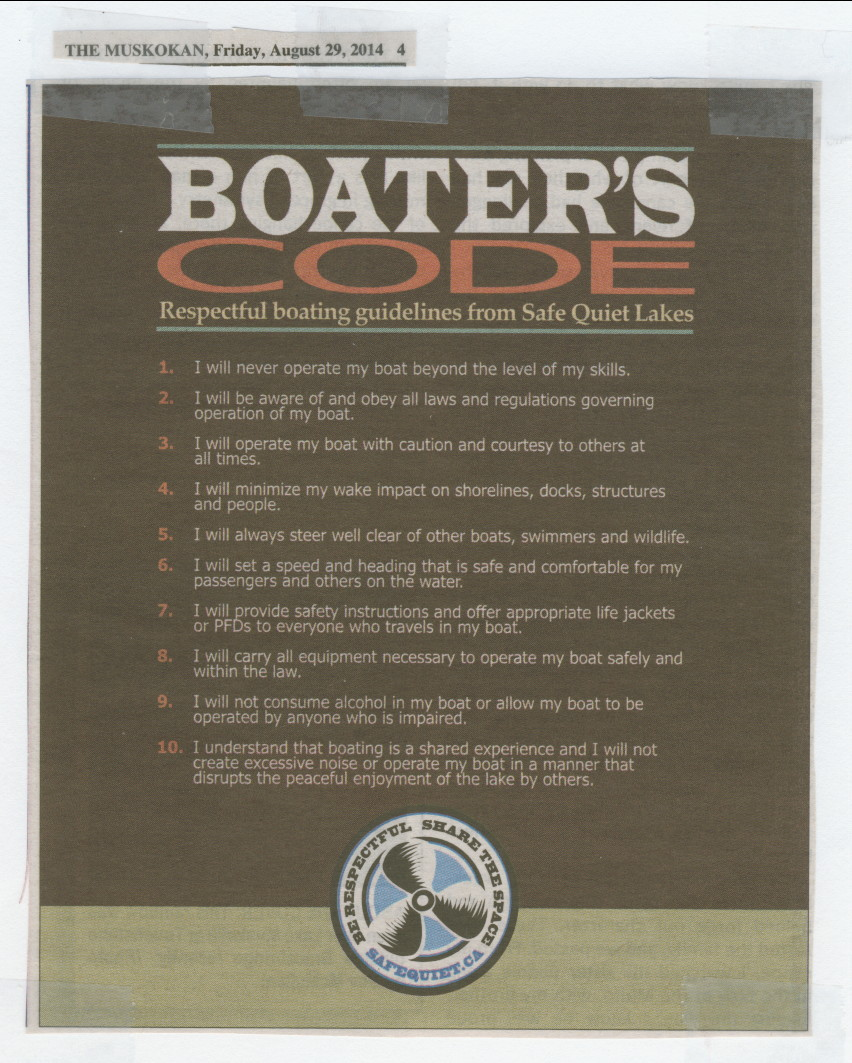 2014 - Aug 29 - Boater's Code - The Muskokan - page 4