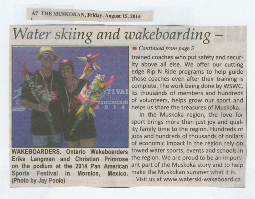 2014 - Aug 15 - Water Ski and Wakeboard Canada - fun and history - The Muskoka page 5 & 7 - 2 of 2