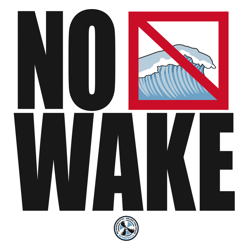 No Wake sign